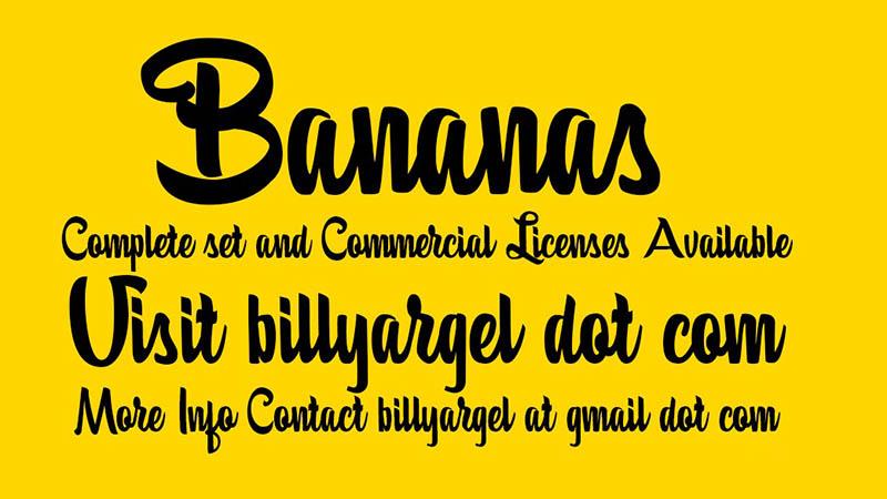 Bananas Font Family Download
