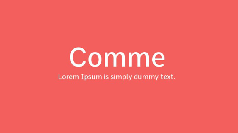 Comme Font Family Free Download