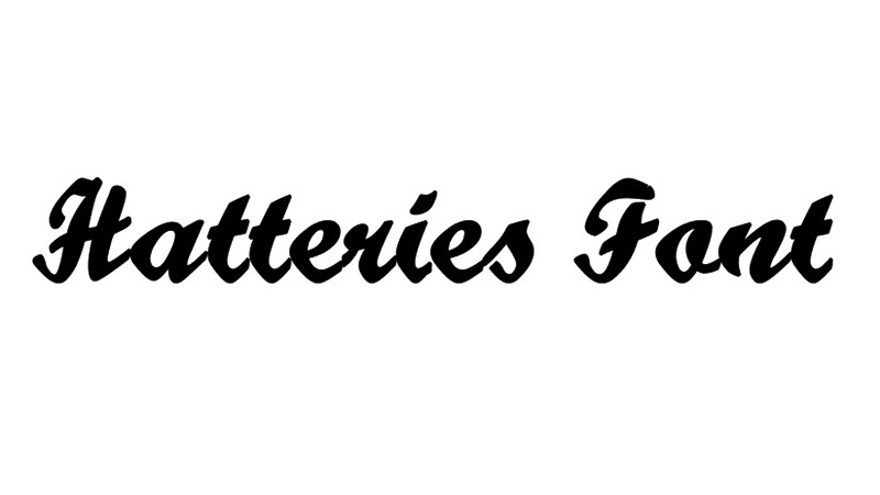 Hatteries Font Family Free Download