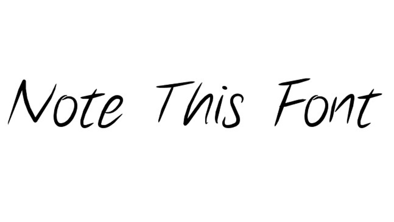 Note This Font Family Free Download