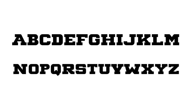 Big Ten Block Font Family Download