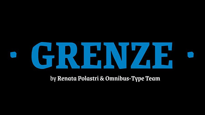 Grenze Font Family Free Download