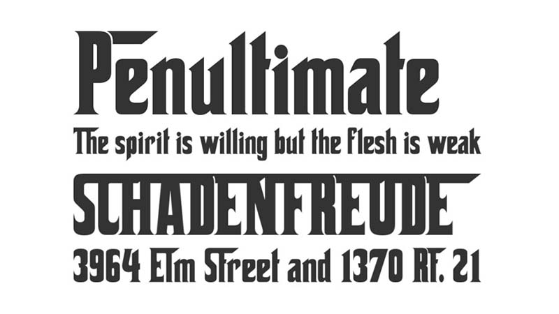 The Godfather Font Family Download