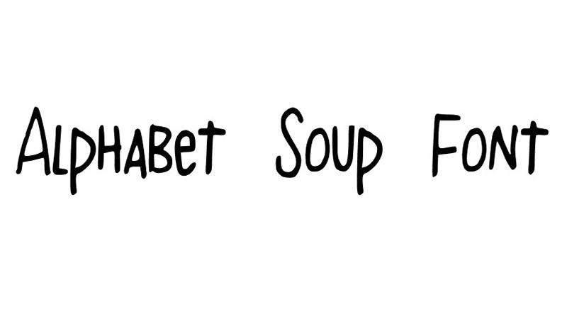 Alphabet Soup Font Family Free Download