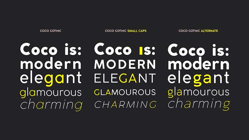 Coco Gothic Font Family Download