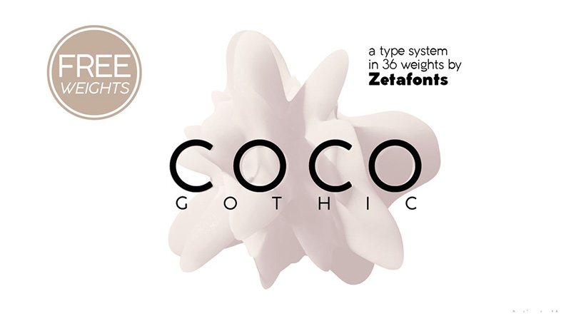 Coco Gothic Font Family Free Download