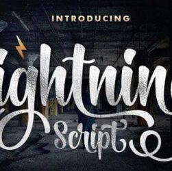 Lightning Script Font Family Free Download