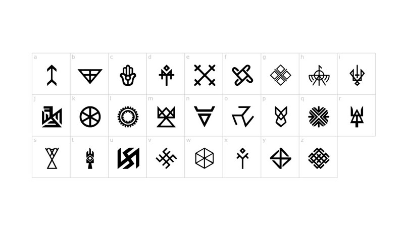Pagan Symbols Font Family Download