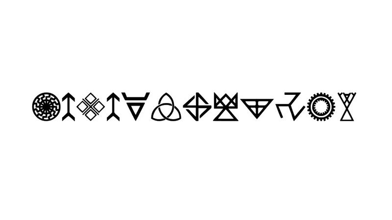 Pagan Symbols Font Family Free Download