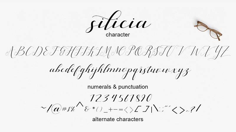 Silicia Font Family Download