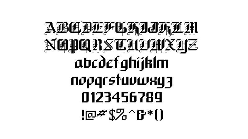 Black Forest Font Family Download