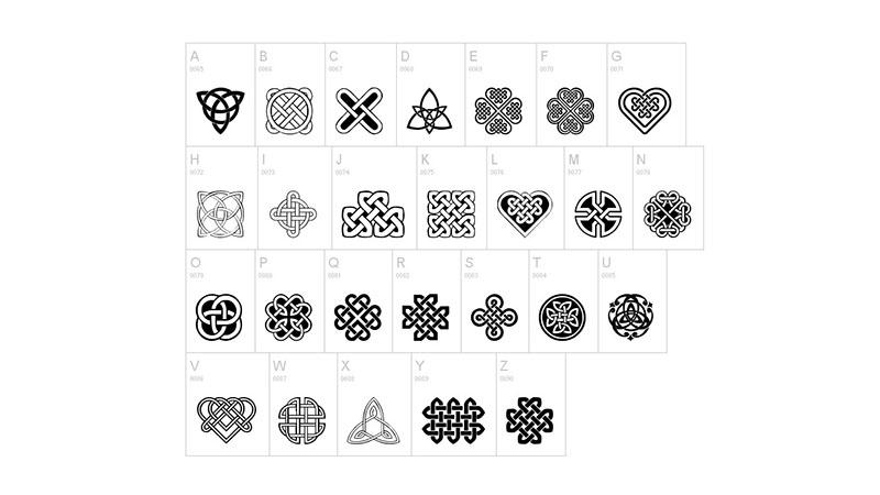 Celtic Knots Font Family Download