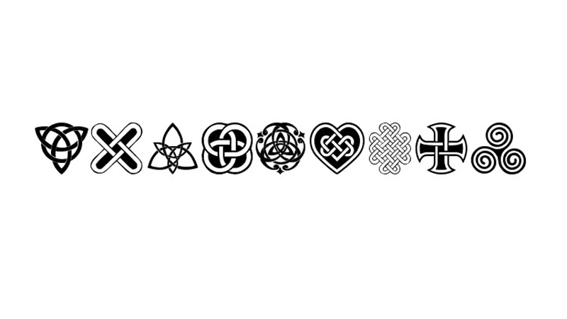 Celtic Knots Font Family Free Download