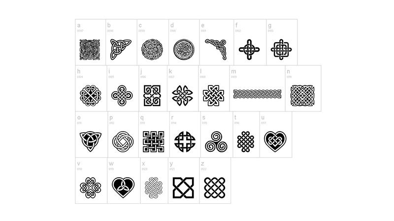 Celtic Knots Font Free Download