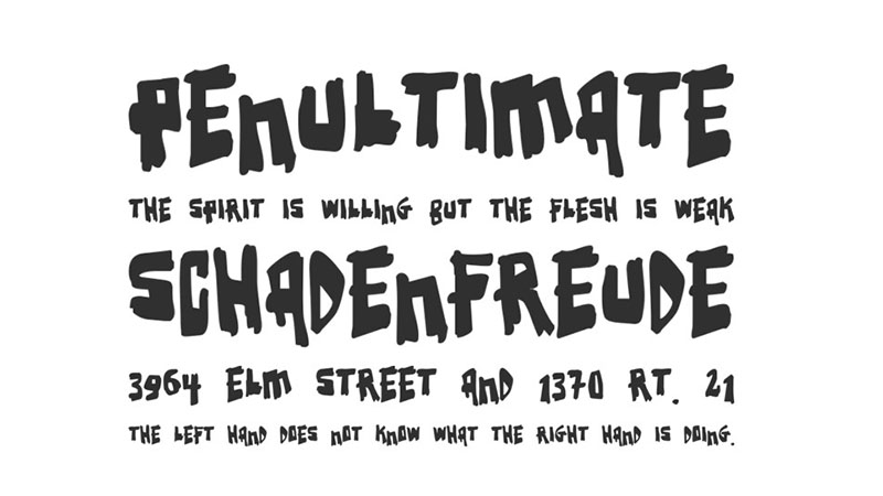Earthquake Font Family Download