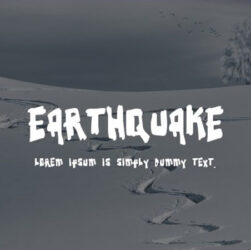 Earthquake Font Family Free Download