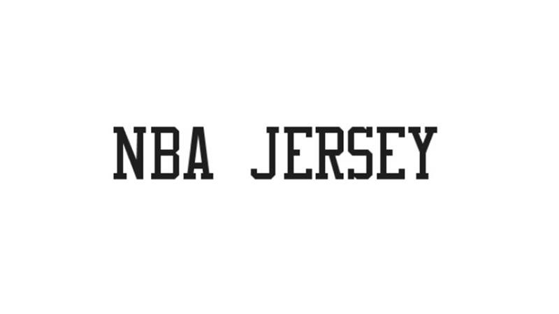 NBA Jersey Font Family Free Download