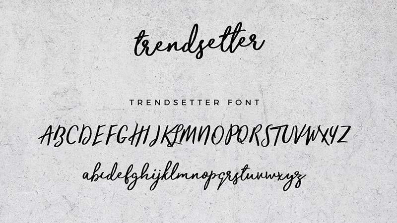 Trendsetter Font Free Download