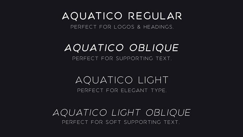 Aquatico Font Free Download