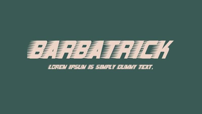 Barbatrick Font Family Free Download