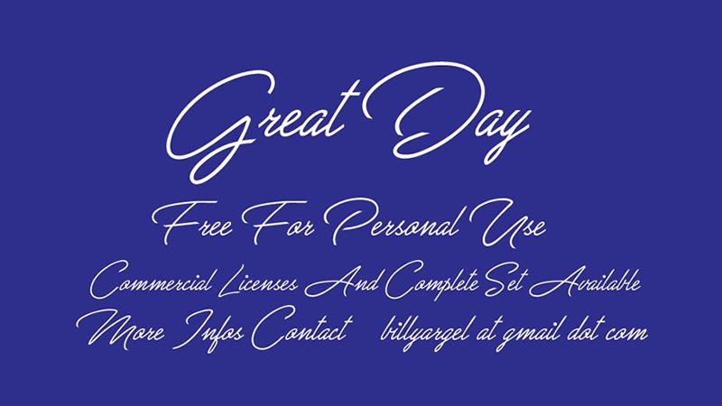 Great Day Font Family Download