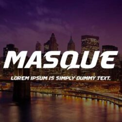 Masque Font Family Free Download