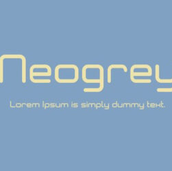 Neogrey Font Family Free Download