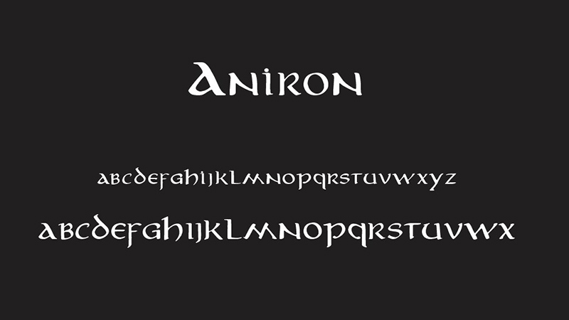 Aniron Font Family Download