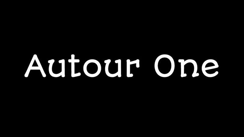 Autour One Font Family Free Download