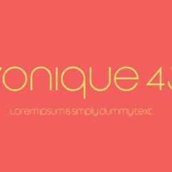 Vonique 43 Font Family Free Download