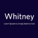 Whitney Font Family Free Download