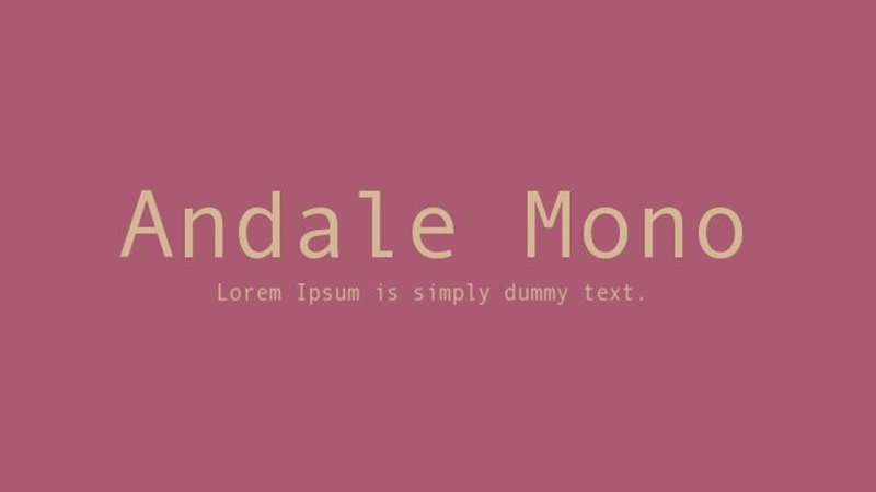 Andale Mono Font Family Free Download