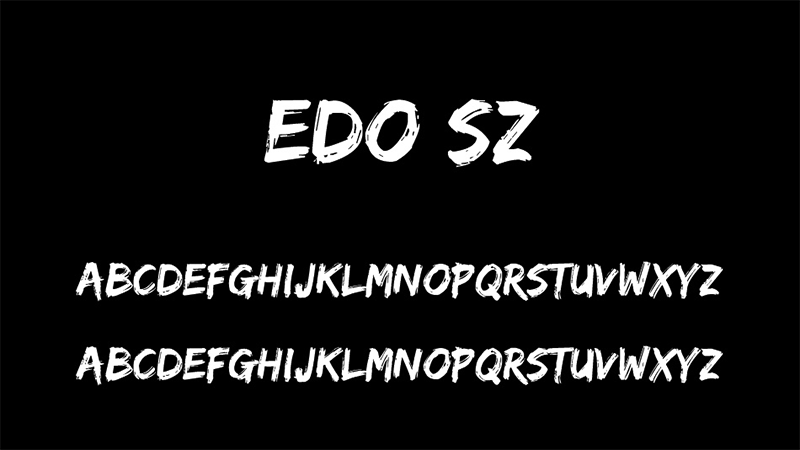Edo SZ Font Family Download