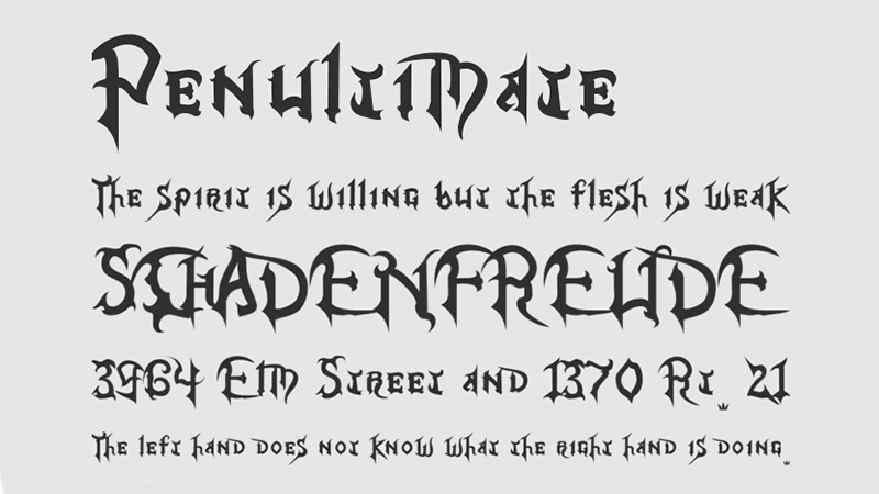 Kingdom Hearts Font Family Download
